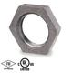 1/4 in. Black Pipe Fitting 150# Malleable Iron Threaded Lock Nut, UL/FM