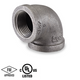 8 in. Black Pipe Fitting 150# Malleable Iron Threaded 90 Degree Elbow, UL/FM