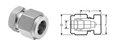 Stainless Steel Compression Fittings Tube Fittings Caps