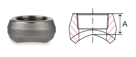 3000# Threaded Outlets Forged Carbon Steel Pipe Fittings