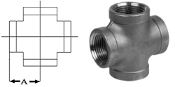 Pipe Fittings Crosses Stainless Steel