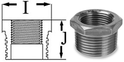 Pipe Fittings Hex Bushings Stainless Steel