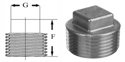 Pipe Fittings Square Head Plugs Stainless Steel