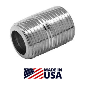 CLOSE Pipe Nipples Stainless Steel Schedule 40 Welded NPT Threaded