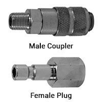 Pneumatic Fittings Mini Type Quick Disconnect Couplers and Plugs