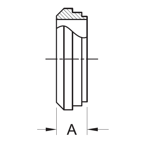 Drawing Short Plain Bevel Seat Weld Ferrule (14PRF) 304 Stainless Steel Sanitary Fitting (3-A)
