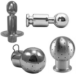 CIP Spray Balls Tri-Clover Connection Stainless Steel Brewers Hardware