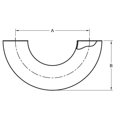 Drawing Polished 180 Degree Return Bends Stainless Steel Sanitary Fitting