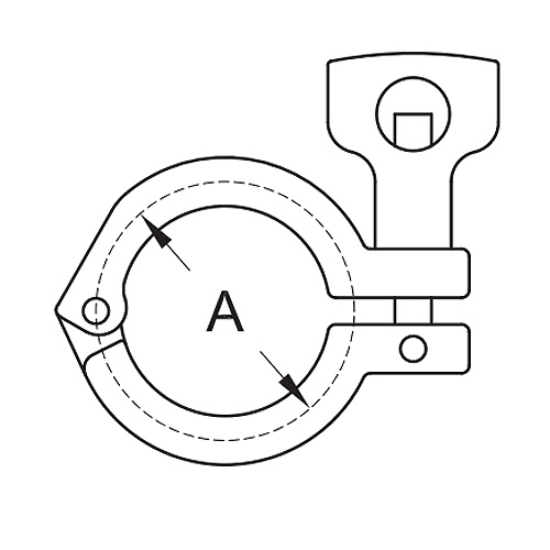 Single Pin Heavy Duty Clamp With Cross Hole Wing Nut (13MHM)
