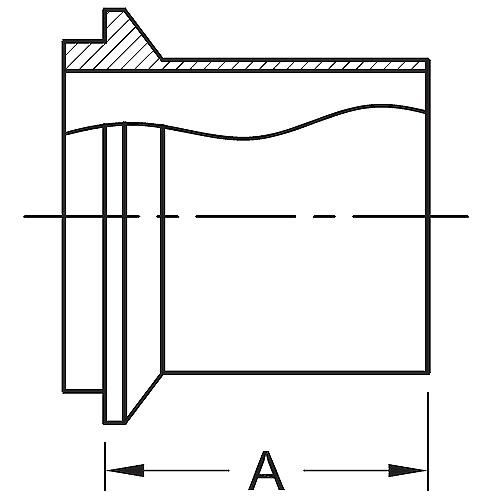 Stainless Steel Fittings Male I-Line Long Weld Ferrule (14WLI)
