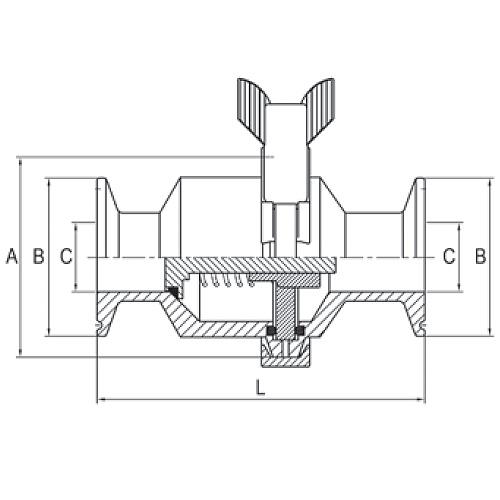 Spring Check Valves Stainless Steel Sanitary Valves (45MP)