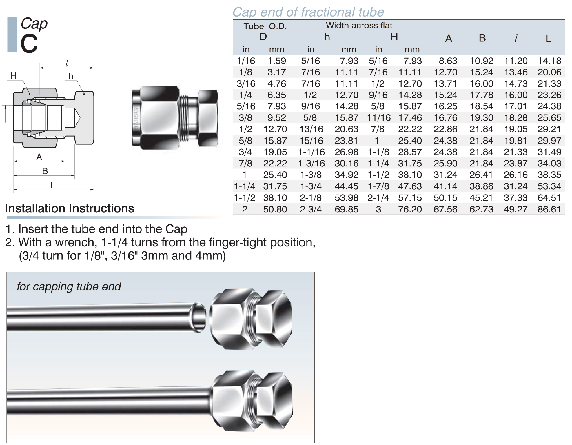 Stainless Steel Tube Fittings Bulkhead Male Connector Dimensions
