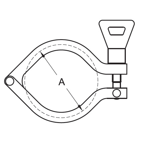 Drawing Stainless Steel Sanitary Clamps Wing Nut I-Line Clamp (13IS)