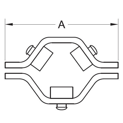 Tubing Hex Hanger With Nitrile Grommets (RGHT)