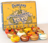 Duncan Vintage Wooden Tournament Day Glo 77 Yoyos in original display box