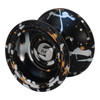 Spin Dynamics Yoyo Black with silver & gold splash