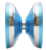 Space Cadet Yoyo light blue with silver side view