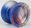 YoYoFactory Horizon Ultra Yoyo Silver Blue Red Splash
