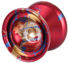 Duncan Windrunner Yoyo Red with blue gold splash