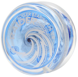 Raider yoyo clear blue