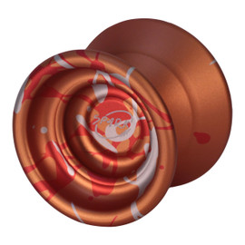 Spin Dynamics Spark yoyo orange with red and silver splash
