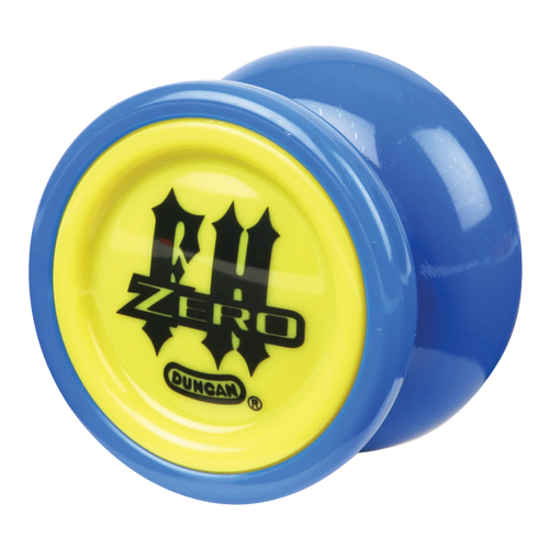 Blue with Yellow Caps Freehand Zero Yoyo