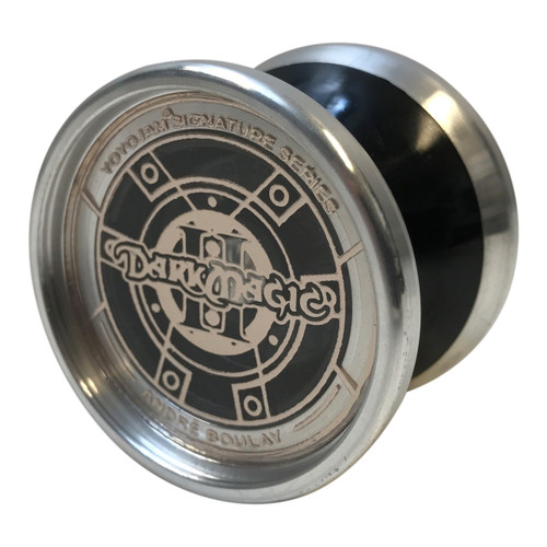 YoyoJam Solid Black/Silver with Bronzed Pog