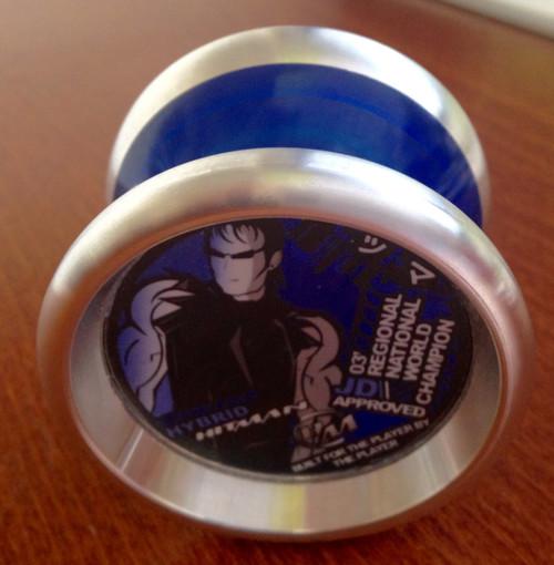 YoyoJam Hitman Hybrid Blue with Silver yoyo