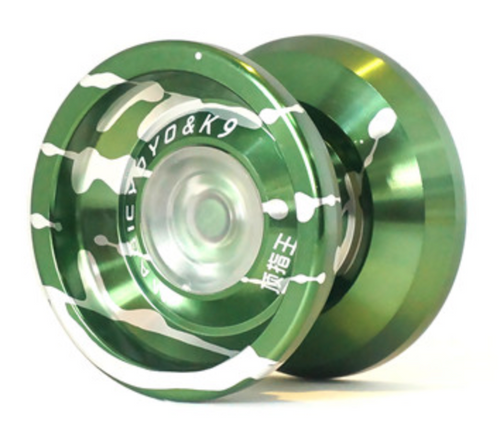 K9 yoyo green with silver splash