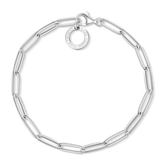 Long Link Silver Bracelet