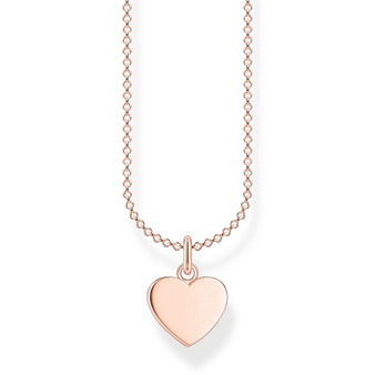 Heart Rose Necklace