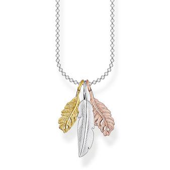 Tri Colour Feather Necklace