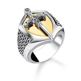 Sword Silver and Gold Ring