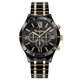 Black and Gold Chrono Watch