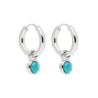 Heavenly Turquoise Silver Earring