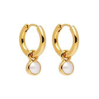 Heavenly Pearl Gold Earring