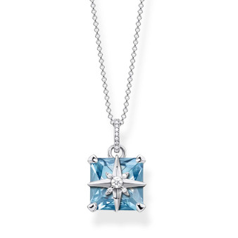 Blue Stone with Star Pendant