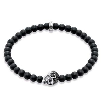 Black CZ Skull Bracelet
