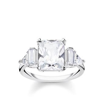 White Stones Ring
