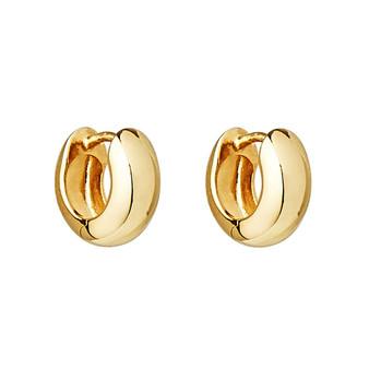 Yellow Huggie Earring
