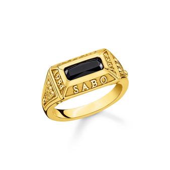 Gold Onyx Signet Ring