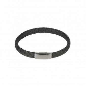 Italian Leather Grey Bracelet