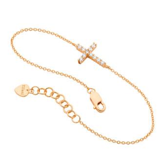 Rose Cross Bracelet