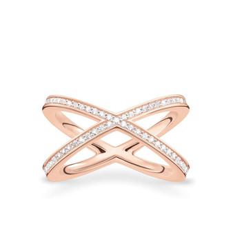 Rose Cross over Ring