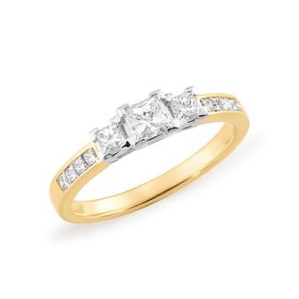 Princess Cut Channel Set Diamond Ring
