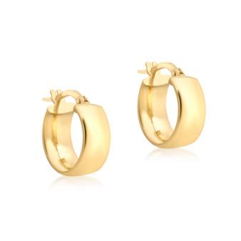 9ct Gold Wide Hoop Earrings