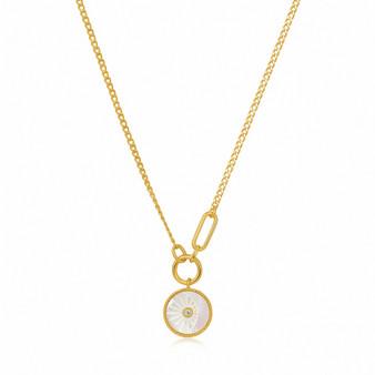 Eclipse Emblem Gold Necklace