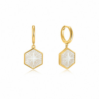 Compass Gold Earrings