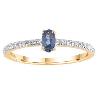 9ct Sapphire Diamond Ring
