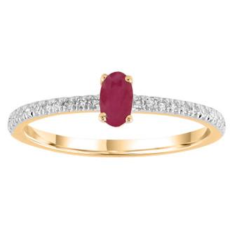 9ct Ruby Diamond Ring